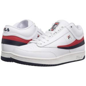 フィラ Fila メンズ スニーカー シューズ・靴 T-1 Mid White/Fila Navy/Fila Red|fermart2-store