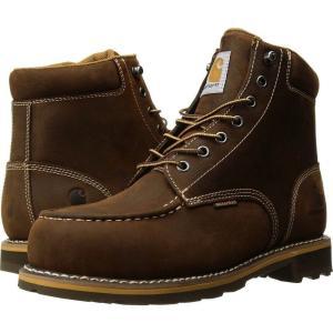 カーハート Carhartt メンズ ブーツ モックトゥ シューズ・靴 6' Moc Toe Lug Steel Toe Dark Bison Oil Tanned|fermart2-store