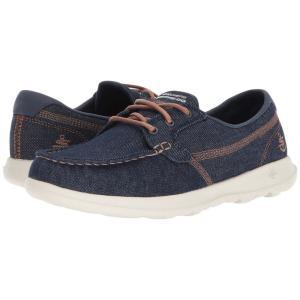 スケッチャーズ レディース スリッポン・フラット シューズ・靴 Go Walk Lite - 15435 Denim|fermart2-store