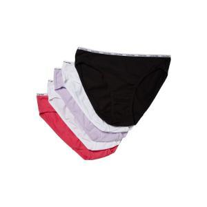 カルバンクライン レディース ショーツのみ インナー・下着 5-Pack Signature Cotton Bikini Bottoms Black/White/Peony Blossom/Tender/Coastal|fermart2-store