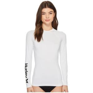 ハーレー レディース ラッシュガード 水着・ビーチウェア One and Only Long Sleeve Rashguard White|fermart2-store