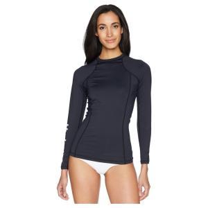 ハーレー レディース ラッシュガード 水着・ビーチウェア One and Only Long Sleeve Rashguard Black/White|fermart2-store