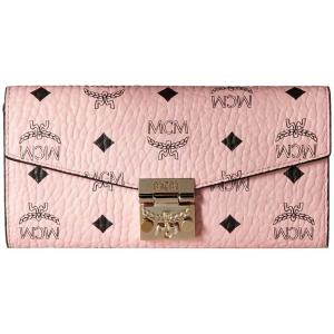 エムシーエム レディース 財布 Patricia Visetos Wallet on a Chain Soft Pink|fermart2-store