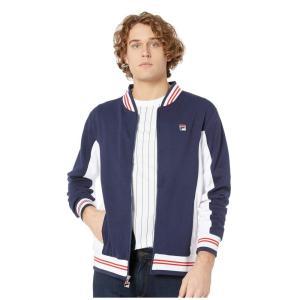 フィラ Fila メンズ ジャケット アウター Settanta Jacket Peacoat/White/Red|fermart2-store