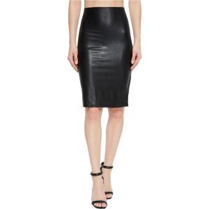 コマンドー レディース ひざ丈スカート スカート Faux Leather Perfect Pencil Skirt SK01 Black|fermart2-store