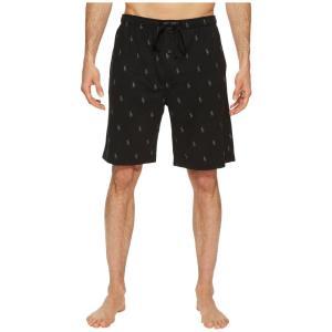 ラルフ ローレン メンズ ショートパンツ ボトムス・パンツ Knit Sleep Shorts Polo Black/Active Grey AOPP|fermart2-store