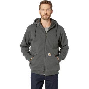 カーハート Carhartt メンズ パーカー トップス Rain Defender Rockland Sherpa Lined Full Zip Hooded Sweatshirt Carbon Heather|fermart2-store