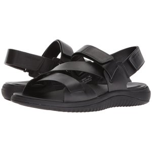 コールハーン メンズ サンダル シューズ・靴 2.Zerogrand Multi Strap Sandal Black Leather/Black|fermart2-store
