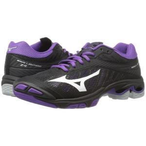 ミズノ Mizuno レディース シューズ・靴 バレーボール Wave Lightning Z4 Black/Violet|fermart2-store