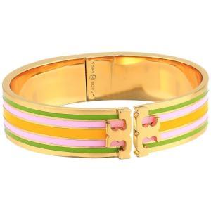 53d84cd2f14d トリー バーチ Tory Burch レディース ブレスレット ジュエリー・アクセサリー Printed Raised Logo Bracelet Tory  Gold/Green/Sunlight/Mauve
