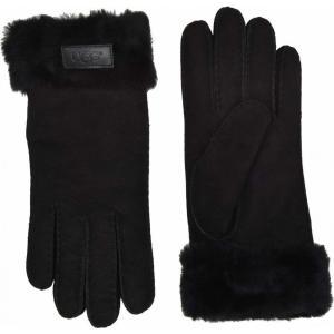 アグ UGG レディース 手袋・グローブ Turn Cuff Water Resistant Sheepskin Gloves Black fermart2-store