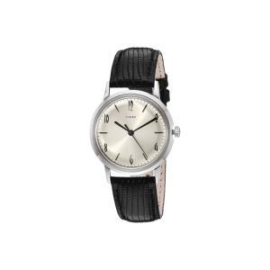 タイメックス Timex レディース 腕時計 Marlin Stainless Steel Hand-Wound Movement Black/Silver fermart2-store