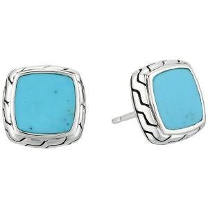 ジョン ハーディー John Hardy レディース イヤリング・ピアス ジュエリー・アクセサリー Classic Chain Stud Earrings with Turquoise Silver fermart2-store