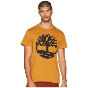 ティンバーランド Timberland メンズ Tシャツ トップス Short Sleeve Seasonal Logo Tee Wheat Boot Tree|fermart2-store
