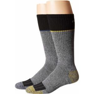 カーハート Carhartt メンズ ソックス インナー・下着 Force Performance Steel Toe Crew Socks 2-Pair Black/Black|fermart2-store