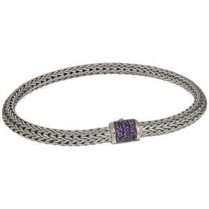 ジョン ハーディー レディース ブレスレット ジュエリー・アクセサリー Classic Chain 5mm Bracelet with Gemstone Silver fermart2-store