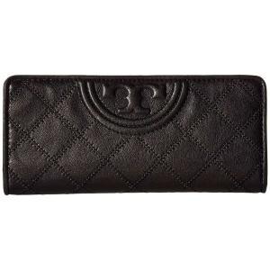 トリー バーチ Tory Burch レディース 財布 Fleming Distressed Slim Envelope Wallet Black fermart2-store