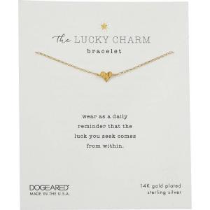 ドギャード Dogeared レディース ブレスレット ジュエリー・アクセサリー The Lucky Charm Bracelet, Heart Charm On Chain Gold|fermart2-store