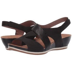 ダンスコ Dansko レディース ヒール シューズ・靴 Vicky Black Milled Nubuck|fermart2-store