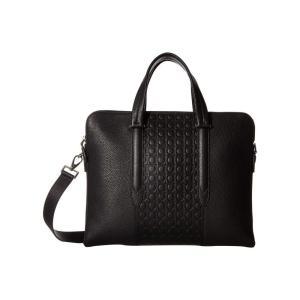 サルヴァトーレ フェラガモ Salvatore Ferragamo メンズ ビジネスバッグ・ブリーフケース バッグ Firenze Gamma Briefcase - 240870 Black|fermart2-store