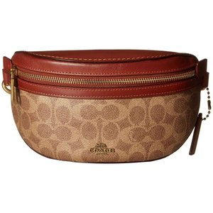 コーチ COACH レディース ボディバッグ・ウエストポーチ バッグ Coated Canvas Signature Belt Bag B4/Tan Rust|fermart2-store