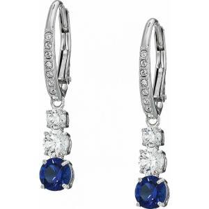 スワロフスキー Swarovski レディース イヤリング・ピアス ジュエリー・アクセサリー Attract Trilogy Round Pierced Earrings Blue fermart2-store