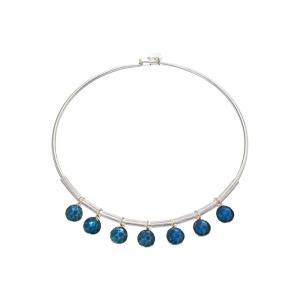 ロバート リー モーリス Robert Lee Morris レディース ネックレス ジュエリー・アクセサリー Faceted Bead Frontal Round Wire Necklace Blue|fermart2-store