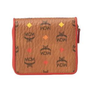エムシーエム MCM メンズ 財布 Spektrum Visetos Zipped Wallet Mini Spectrum Diamond Cognac fermart2-store