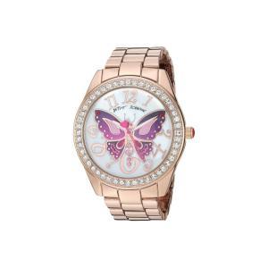 ベッツィ ジョンソン Betsey Johnson レディース 腕時計 37BJ00249-65BX Pink Tone Butterfly Rose Gold|fermart2-store