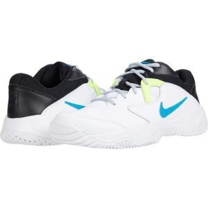 ナイキ Nike メンズ テニス シューズ・靴 Court Lite 2 White/Neo Turquoise/Hot Lime/Light Smoke Grey|fermart2-store