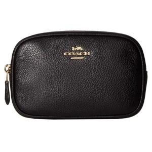 コーチ COACH レディース ボディバッグ・ウエストポーチ バッグ Polished Pebble Dressy Belt Bag Black/Gold|fermart2-store