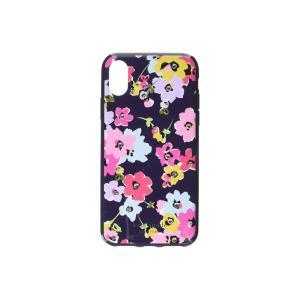 ケイト スペード Kate Spade New York レディース iPhoneケース Jeweled Wildflower Phone Case for iPhone XS Navy Multi|fermart2-store