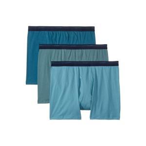 ジョッキー Jockey メンズ ボクサーパンツ インナー・下着 Breathable Mesh Cotton Classic Boxer Brief 3-Pack Pond Green/Antique Azure/Dusty Skies|fermart2-store