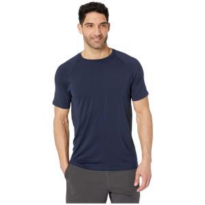 ジョッキー Jockey Active メンズ トップス Short Sleeve Sport Top Navy Blazer|fermart2-store
