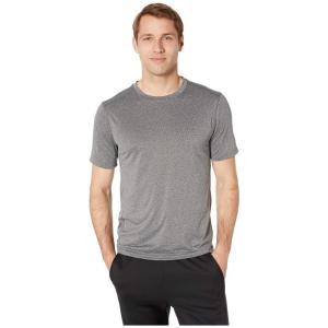 ジョッキー Jockey Active メンズ Tシャツ トップス Tech Stretch Short Sleeve Tee Black Heather|fermart2-store