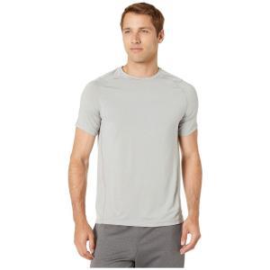 ジョッキー Jockey Active メンズ Tシャツ トップス Aerated Mesh Back Tee Light Grey Heather/Solid|fermart2-store