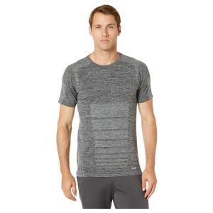 ジョッキー Jockey Active メンズ Tシャツ トップス Seamless Morse Code Short Sleeve Tee Gray Fluorite Marl|fermart2-store