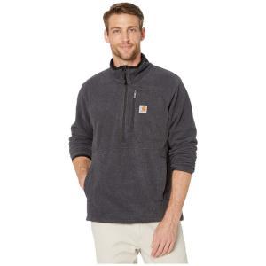 カーハート Carhartt メンズ フリース ハーフジップ トップス Dalton 1/2 Zip Fleece Black Heather|fermart2-store
