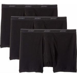 ジョッキー Jockey メンズ ボクサーパンツ インナー・下着 Tailored Essentials Staycool+ Boxer Brief 3-Pack Black|fermart2-store