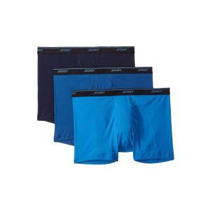 ジョッキー Jockey メンズ ボクサーパンツ インナー・下着 Tailored Essentials Staycool+ Boxer Brief 3-Pack True Navy/Mimas Blue/Royal Blue|fermart2-store