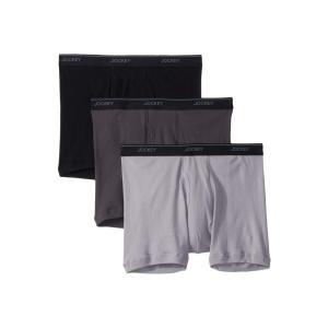 ジョッキー Jockey メンズ ボクサーパンツ インナー・下着 Tailored Essentials Staycool+ Boxer Brief 3-Pack Black/Trusted Pewter/Mid Grey|fermart2-store