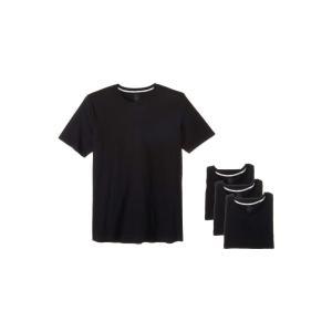 ジョッキー Jockey メンズ Tシャツ トップス Tailored Essentials Staycool+ Crew Neck T-Shirt 3-Pack Black|fermart2-store