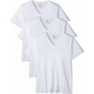ジョッキー Jockey メンズ Tシャツ トップス Tailored Essentials Staycool+ V-Neck T-Shirt 3-Pack White|fermart2-store