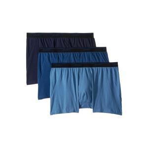 ジョッキー Jockey メンズ ボクサーパンツ インナー・下着 Tailored Essentials Maxstretch(TM) Boxer Brief 3-Pack True Navy/Blue Tranquil/Blue Wash|fermart2-store