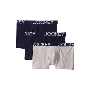 ジョッキー Jockey メンズ ボクサーパンツ インナー・下着 Active Stretch(TM) Boxer Brief 3-Pack True Navy/Grey Heather/True Navy|fermart2-store