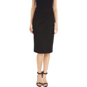マイケル コース MICHAEL Michael Kors レディース ひざ丈スカート ペンシルスカート スカート Slim Fit Pencil Skirt Black|fermart2-store