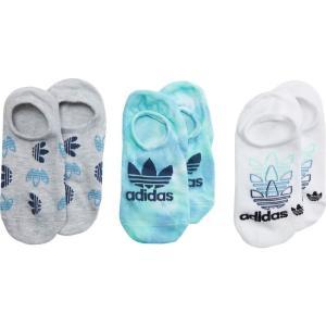 アディダス adidas Originals レディース ソックス 3点セット インナー・下着 Originals Color Wash Super No Show Socks 3-Pair Green/Clear Mint/Color Wash|fermart2-store