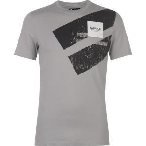 バーブァー Barbour International メンズ Tシャツ トップス Barbour Gauge T Shirt Battleship Grey|fermart3-store