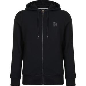 ヒューゴ ボス BOSS CASUAL メンズ スウェット・トレーナー トップス Logo Hooded Sweatshirt Black|fermart3-store