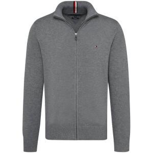 トミー ヒルフィガー Tommy Hilfiger メンズ ニット・セーター トップス Tommy Hifliger Comfort Zip Through Mid Grey|fermart3-store
